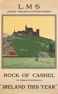 rock of cashel lms railway by norman wilkinson