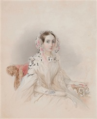 portrait of princess thérèse d'oldenburg by vladimir ivanovich hau