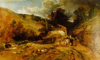 in the valley of dolwyddelan, north wales by george hickin
