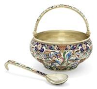 sugar-basket (+ spoon; 2 pieces) by maria semenova