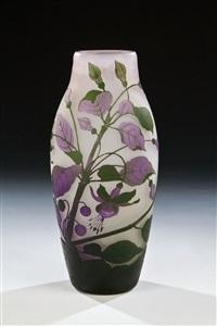 vase mit fuchsien by glashüttenwerke weisswasser