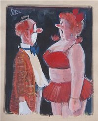 le couple de clowns by roger tetsu