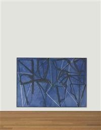 blue horizontal by brice marden