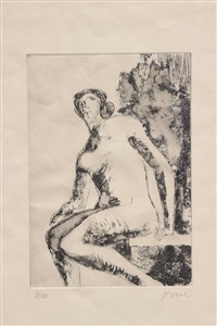 nu féminin by henry moore