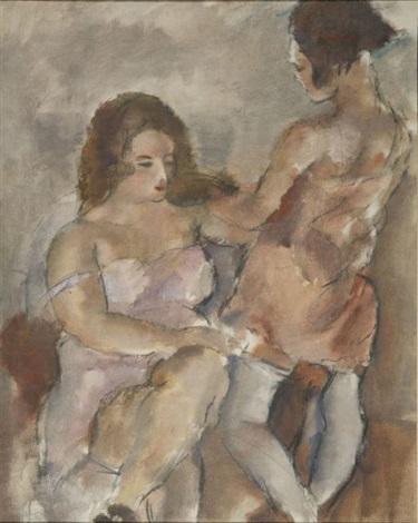deux jeunes filles by jules pascin