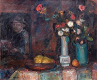 still life with a painting on the wall by zvi shor
