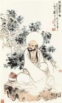 罗汉图 立轴 设色纸本 by gu bingxin
