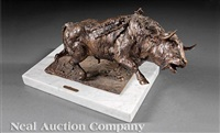 dying bull by humberto peraza