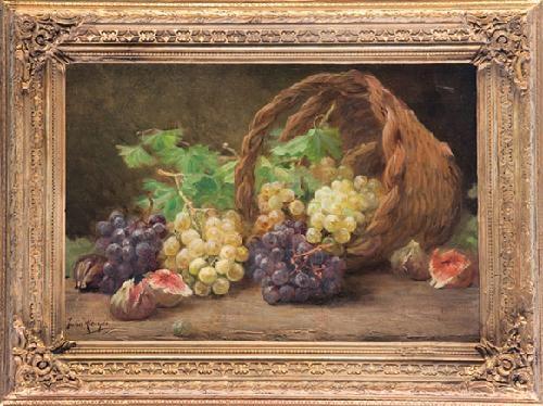 bodegón de uvas by julia alcayde y montoya