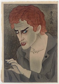 the actor morita kan'ya xiii in the role of jean valjean from les misérables by koka yamamura