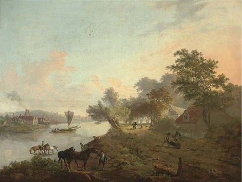 millbank on the river thames by john laporte