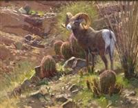 cactus garden (desert ram) by ralph oberg
