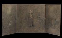 au jardin (triptych) by boris zaborov