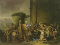 der heilige petrus erweckt tabitha by johann peter von langer