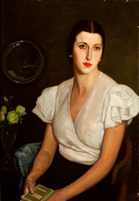 retrato de titos, sobrina del artista by francisco llorens y diaz
