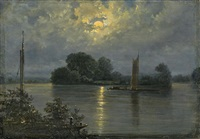 vollmond bei pillnitz by carl gustav carus