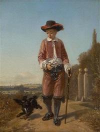 le promeneur et son chien by florent willems