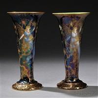 trumpet vases (pair) by wedgwood