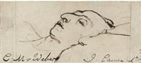 carl maria von weber (1786 - 1826) sur son lit de mort by john cawse