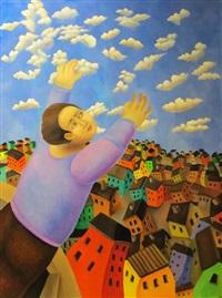 enfant décrochant les nuages by fabien gäng