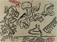 a deux pinceaux by karel appel and pierre alechinsky