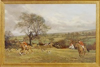 hunt scene by john theodore eardley kenney