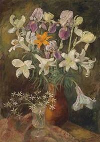 blumenstrauß in einer vase by alfred ziethlow