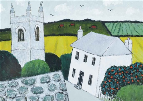 country church zennor by joan gillchrest