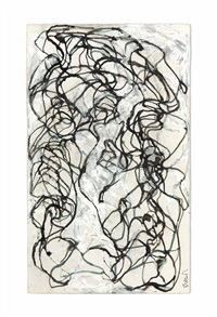 stele drawing 9 by brice marden
