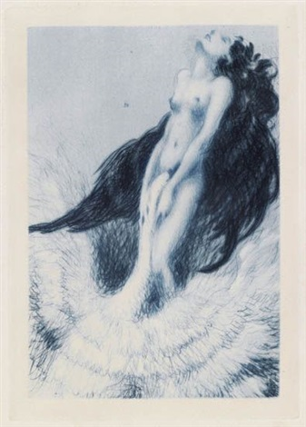 lêda portfolio of 16 wjustif text by pierre louys by louis icart