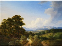 landschaftspartie am tegernsee by kilian metzinger