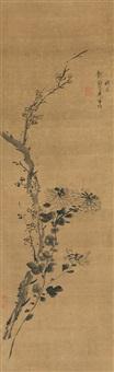 双清图 (flowers) by ni yuanlu