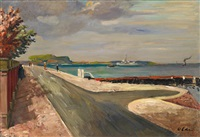 eckernförde (+ oil sketch of a landscape, verso) by hans olde