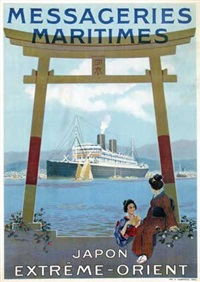 messageries maritimes japon extrême-orient by sandy (georges taboureau) hook