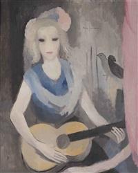 la guitariste by marie laurencin