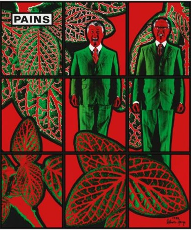 pains in 9 parts by gilbert and george