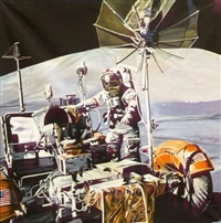 apollo 17 commander, december 13, 1972 by philippe huart