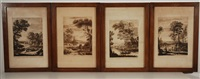 untitled (set of 4 after claude lorrain) by richard earlom