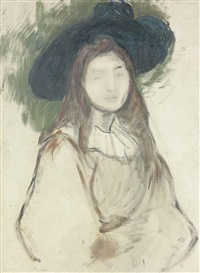 julie manet au chapeau liberty by berthe morisot