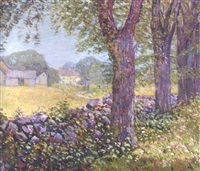 landscape with houses by john franklin stacey