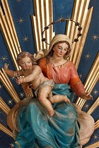 virgen con el niño by ramón amadeu