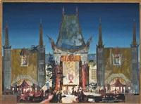 front elevation of grauman's chinese theatre by raymond m. kennedy