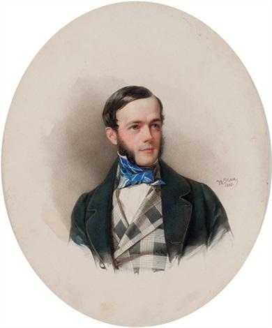 portrait of count emerik karlovich hutten chapsky by vladimir ivanovich hau