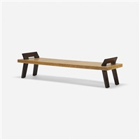bench, model 5044 by paul t. frankl