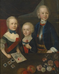 portrait of three children by austrian school (18)
