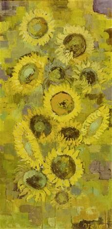 soleils au soleil composition florale 2 works by verone