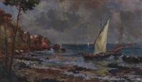 marina con barche di pescatori by giuseppe solenghi