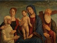 madonna mit dem kind, zwei heiligen und einer stifterfigur by giovanni di niccolò mansueti