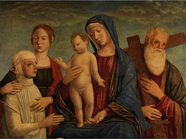 madonna mit dem kind zwei heiligen und einer stifterfigur by giovanni di niccolò mansueti