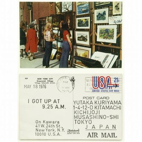 postcard i got up at may 18 1976 by on kawara